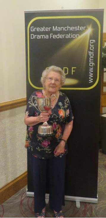 Sylvia with the GMDF Laurence Roberts Trophy